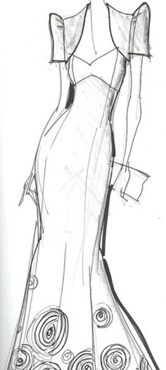 Filipiniana inspired butterfly sleeves wedding dress sketch...