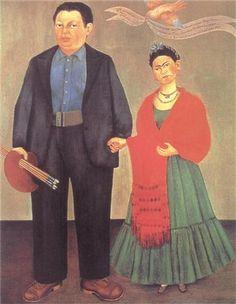 Frieda and Diego Rivera Artist: Frida Kahlo Completion Date: 1931 Style: Naïve Art (Primitivism) Genre: portrait Technique: oil Material: canvas Dimensions: 100 x 79 cm Gallery: Museum of Modern Art Albert M. Bender Collection San Fracisco, California, U.S.A.