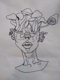 Ink drawing Drawing Tips trippy drawings Drawing Drawing, Painting & Drawing, Drawing Tips, Trippy Drawings, Weird Drawings, Dark Art Drawings, Weird Art, Trippy Painting, Arte Sketchbook