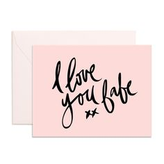 I Love You Babe Greeting Card