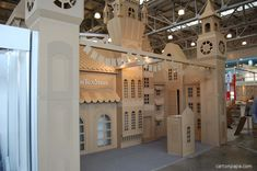 A whole street of cardboard - custom exhibit created only from cardboard.