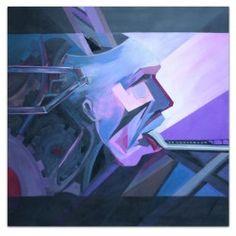 """Machine man""  150x150 cm Original acrylic painting By. Gallery Funk Art, Denmark  Price DKK. 3.000,-"