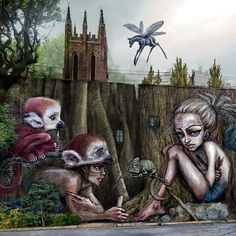 herakut | street art | graffiti  This is very cool and a little sad.