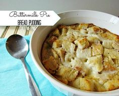 Amazing Buttermilk Pie Bread Pudding is a combo of two Southern favorites. Cream… Amazing Buttermilk Pie Bread Pudding is a combo of two Southern favorites. Creamy buttermilk pie makes this bread pudding unforgetable! Pudding Poke Cake, Pudding Desserts, Köstliche Desserts, Pudding Recipes, Pie Recipes, Delicious Desserts, Cooking Recipes, Dessert Recipes, Recipes