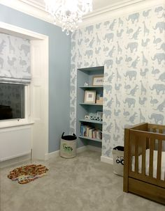 If you're looking for some decorating inspiration take a peek at this beautiful child's bedroom created by Rhiannon Langlands. Rhiannon has teamed the 'How it works' screen printed linen with the 'How it works' wallpaper. They look so elegant in this gorgeously proportioned room. The wallpaper is available here: http://www.paperboywallpaper.co.uk/…/how-it-works-white-wal… And the fabric is here: http://www.paperboywallpaper.co.uk/…/how-it-works/blue-brown