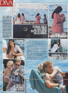 Honeymoon - Pierre and Beatrice with Caroline, Tatiana, Andrea, Sacha and baby India