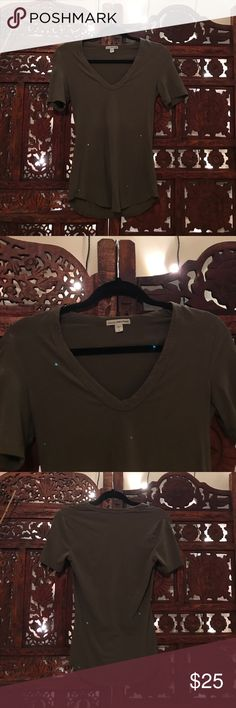 James Perse Army V Neck Reposh. Super soft! James Perse Tops Tees - Short Sleeve