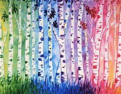 Birches Be Crazy at Joe's Crab Shack (Eatontown) - Paint Nite Events near Eatontown, NJ> Joe Crab Shack, Little Havana, Paint And Sip, Cat Crafts, Try Something New, April Showers, Art Store, Paint Party, Diy Canvas