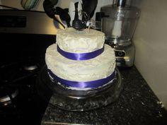 DIY Wedding cake recipe - white almond buttercream with strawberries from sweetphi.com