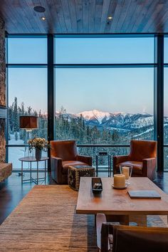 Un refuge montagnard contemporain dans le Montana - PLANETE DECO a homes world