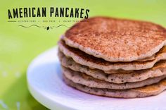 American Pancakes.  Gluten free, egg free, dairy free. Thermomix TM5 Edition.