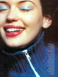 Smile, please by Elaine Constantine for Vogue Italy, August 1999