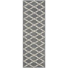 Safavieh Handmade Moroccan Chatham Contemporary Dark Gray Wool Rug (2'3 x 7') (CHT721D-27), Grey, Size 2'3 x 7' (Cotton, Geometric)