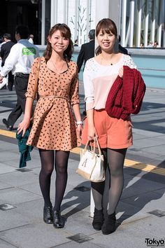 street snaps from Tokyo Girls Collection 2012 Autumn/Winter - featuring Japanese fall fashion trends. Pantyhose Outfits, In Pantyhose, Japanese Street Fashion, Tokyo Fashion, Tokyo Street Style, Street Style Women, Cute Asian Girls, Beautiful Asian Girls, Fall Fashion Trends