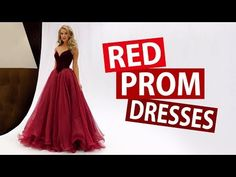 (24) Pretty Red Prom Dresses 2018 - Buy New Formal Evening Party Dress For Prom Girls | MillyBridal.org - YouTube