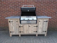 20 Wood Pallets Grill Station Design Ideas in Backyard Outdoor Bbq Kitchen, Outdoor Grill Area, Outdoor Grill Station, Outside Grill, Patio Grill, Backyard Kitchen, Outdoor Kitchen Design, Grill Gazebo, Grill Table
