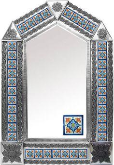 Rustica House tin tile mirror. #rusticahouse #myrustica #tinmirrors