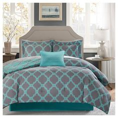 Home Essence Becker Reversible Bed in a Bag Bedding Set (Pack of Full Comforter Sets, King Comforter, Bedding Sets, Gray Comforter, Console, Aqua Bedding, King Pillows, Traditional Bedroom, Cotton Sheet Sets