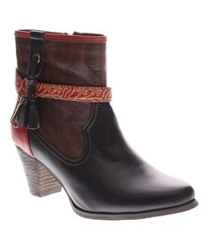 This Black Davinci Leather Bootie by L'Artiste by Spring Step is perfect! #zulilyfinds