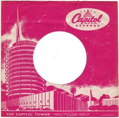 Late 1950s CAPITOL RECORDS 45 RPM Record Sleeve