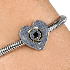 Tweedie Tartan Crest Heart Bracelet – Your Tartan