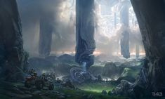 Halo 4 Art & Pictures,  Campaign Environment Gotta love forerunner architecture.