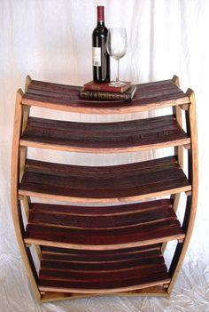BOOKCASE Medici Large Wine Barrel Bookcase