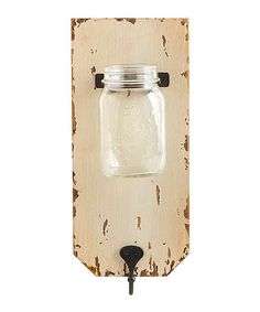 Look at this Cream Wood Jar Holder & Wall Hook on #zulily today!