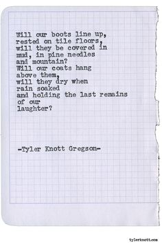Typewriter Series #1632 by Tyler Knott Gregson North Pole Ninjas is available…