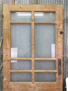 Wooden Window Shutters, Farmhouse Shutters, Window Wall Decor, Wooden Windows, Arched Doors, Windows And Doors, Sliding Doors, Old Wood Doors, Shutter Doors