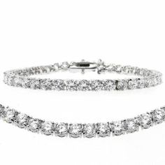 There is no better way to accessorize your outfit than with a stunning CZ brilliant tennis bracelet. Latest Jewellery Trends, Jewelry Trends, Prom Jewelry, Boho Jewelry, Silver Bracelets, Jewelry Bracelets, Silver Rings, Necklaces, Prom Accessories