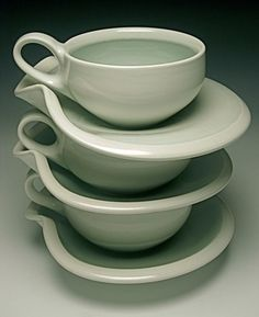 the most perfect handle size and fat cup. Ceramic cup & saucer by Christian Tonsgard