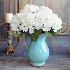 EBY Artificial Hydrangea Flower 5 Big Heads Bounquet (Diameter 7 each head) 7…