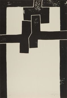"""vjeranski: """"Eduardo Chillida Barcelona I Lithograph, 1971 Signed in pencil and inscribed PA. An artist's proof aside from the edition of """" Tachisme, Action Painting, Painting & Drawing, Art Blanc, Modern Art, Contemporary Art, Arte Online, Art Abstrait, Art Graphique"""