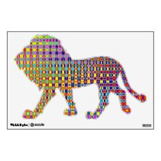 Psychedelia Lion Wall Decal