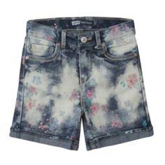 Levi's Floral Distressed Denim Shorts - Toddler
