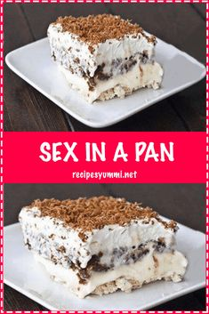 Sex in a Pan Dessert Recipe (Sugar-free, Low Carb, Gluten-free) - Learn how to make sex in a pan dessert - easy and sugar-free! And, this chocolate sex in a pan recipe is one of the best low carb desserts eve Icebox Desserts, Köstliche Desserts, Delicious Desserts, Yummy Food, Quick Easy Desserts, Cool Whip Desserts, Icebox Cake, Food Cakes, Cupcake Cakes