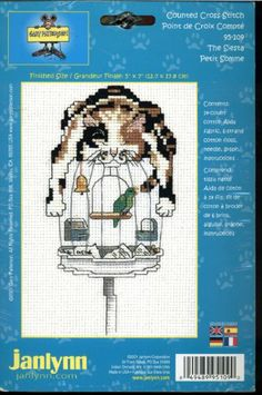 Cartoonist Gary Patterson Counted Cross Stitch Kit - The Siesta - Featuring Cat Perched On Top of a Bird Cage Gary Patterson, Cat Perch, Small Cross Stitch, Counted Cross Stitch Kits, Amazon Art, Sewing Stores, Cross Stitching, Cross Stitch Patterns, Sewing Crafts