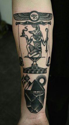 I love Egyptian Mythology tattoos :D