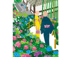 Cover illustration for Kamakura Guide map Kamakura, Small Flowers, Profile, Behance, Kids Rugs, Map, Gallery, Cover, Check