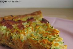 Tarte à la carotte, courgette et lardons Batch Cooking, Cooking Recipes, Healthy Recipes, French Desserts, French Food, Zucchini, Quiche Lorraine, Quiche Recipes, What To Cook