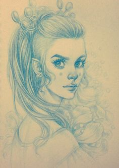 Daily Sketch: Princess by dimary on DeviantArt