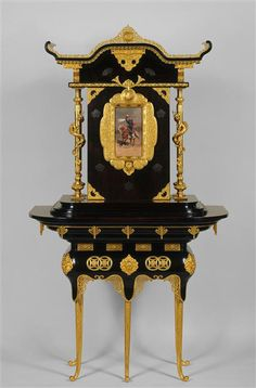 """""""Two bodies cabinet, Édouard Lièvre, Victorian Style Furniture, French Furniture, Antique Furniture, Furniture Styles, Furniture Design, Edouard Detaille, Empire, Jean Baptiste, Architectural Antiques"""