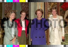 25 OCT 1993  BRUSSELS From left to right,Queen FABIOLA,Princess ASTRID,Queen PAOLA and Princess DIANA of Wales seen before the four o'clock tea at the Royal Castle of Laeken / BELGA FOR EPA PIC H.VANDIEST