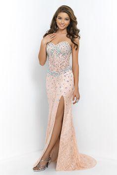 2015 Sweetheart Sheath/Column Prom Dress Lace With Rhinestone