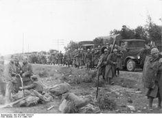 Soldados italianos del CTV durante la batalla de Guadalajara. 1937