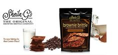 Love the crispy crunchy edges of a rich gourmet brownie? Then you owe it to yourself to try Award-Winning Brownie Brittle™ snacks by Sheila G. Named as a hot item by WeightWatchers® (only 120 ca