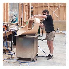 Constructing a custom frame for our new Manhattan Lounge. #woodworking #frame #woodwork #furnituremaking #furnituremaker #furniture #custommade #chair #furnituredesign #furnituremanufacturing #bespokefurniture #madeinaustralia