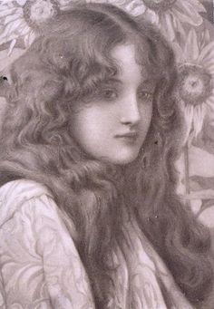 Henry Ryland, British artist (1856-1924). 'Damaris'