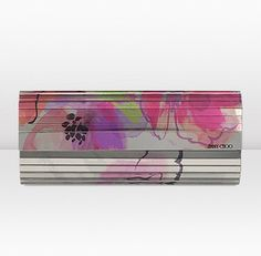 """""""Sweetie""""...floral pink mix printed acrylic clutch bag by Jimmy Choo"""